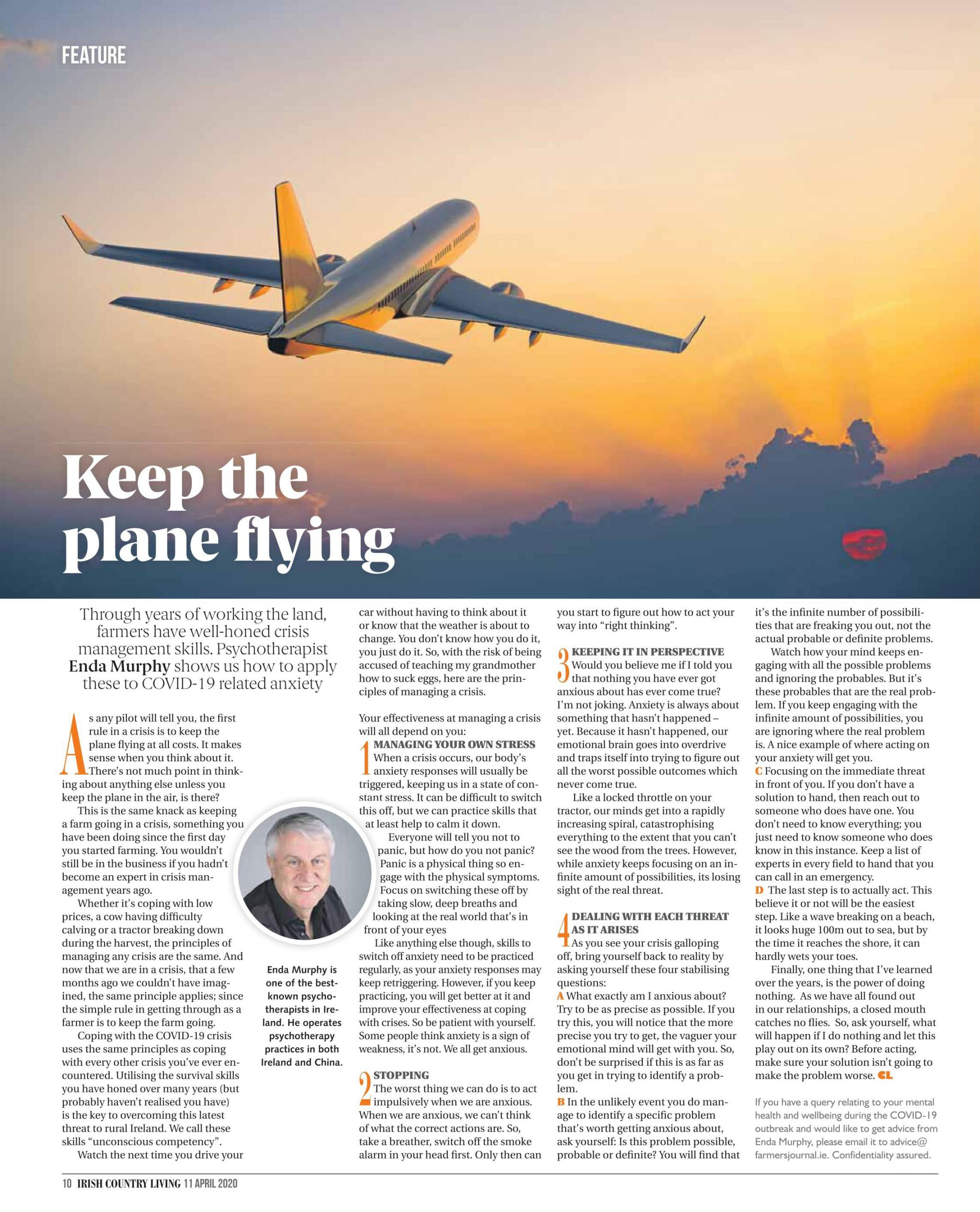 Keep the Plane Going Irish Country Magazine April 2020 Full Article